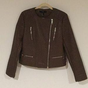 Forever 21 Brown Moto Jacket